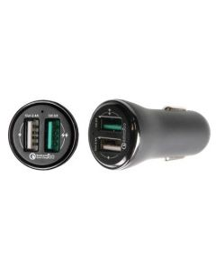 Dobbelt USB Type A Billader - Quick Charge
